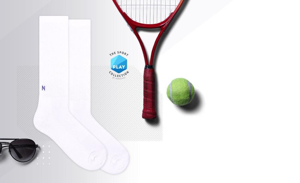 Białe skarpety sportowe