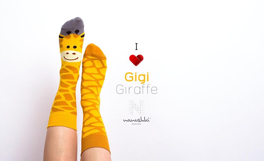 Gigi Giraffe Skarpetki z żyrafą