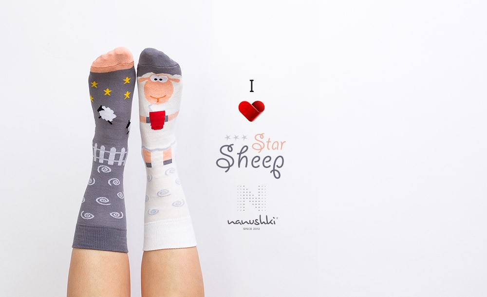 Star Sheep socks