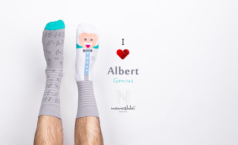 Skarpetki Albert Einstein