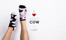 Stopki kolorowe krowa