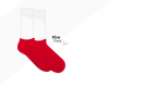 czerwone stopki